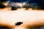 李鑒泉《輕舟搖盪水雲間》