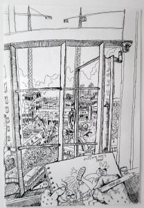 黃錫煌作品《心清望窗外》圖像