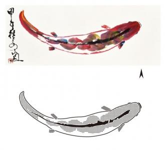 《胡桂文畫展—五彩繽紛》錦鯉(一)