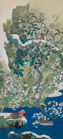 《仿日人荒木十畝「四季花鳥 – 冬」》